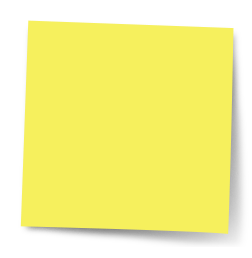 blank post-it note pad